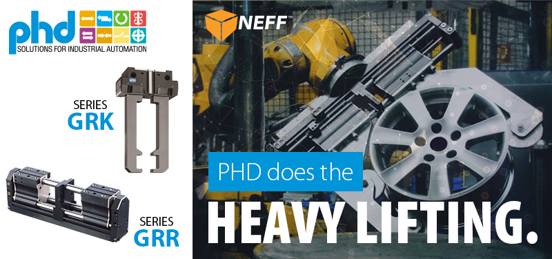 PHD Heavy Duty Pneumatic Parallel Grippers