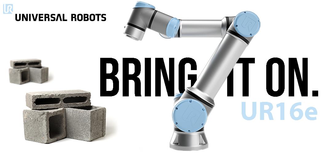 Universal Robots UR16e: 16kg payload collaborative robot